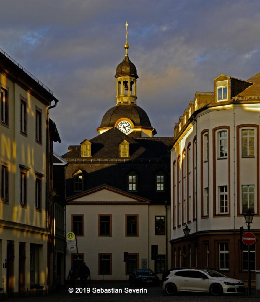 Blick auf das Glauchauer Rathaus.